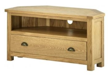 Purbeck Oak TV Unit -  Corner