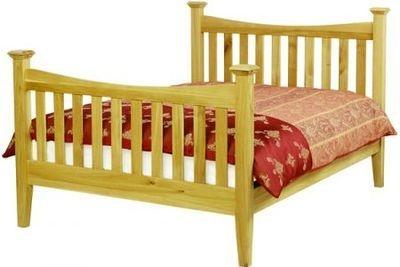Arundel Oak 5' Standard Bed - High Foot End