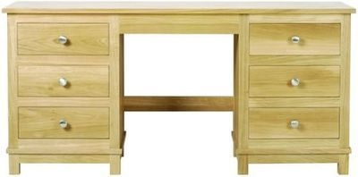 Arundel Oak Double Pedestal Dressing Table