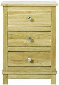 Arundel Oak Three Drawer Bedside Chest