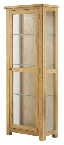 Purbeck Oak Glazed Display Cabinet