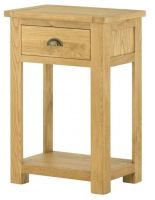 Purbeck Oak Console Table - 1 Drawer