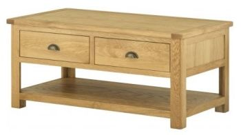 Purbeck Oak Coffee Table with Drawers