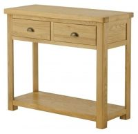 Purbeck Oak Console Table - 2 Drawers