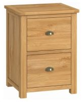 Purbeck Oak Office 2 Drawer Filing Cabinet