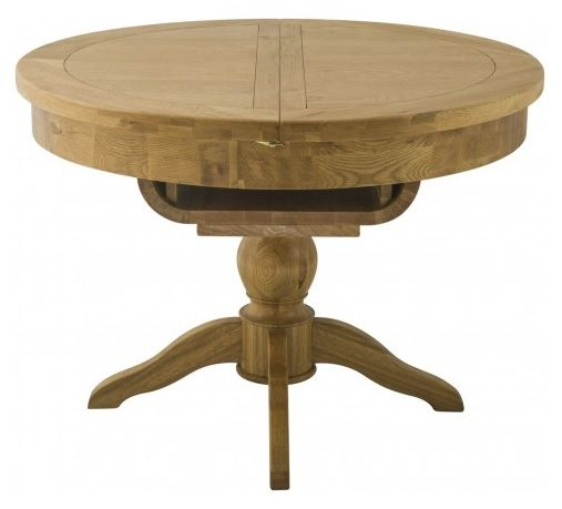 Purbeck Grand Oak Round Butterfly Extending Table