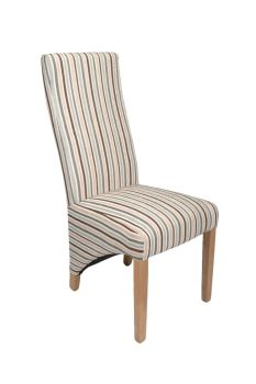 Duck Egg Stripe Dining Chair