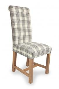 Cappuccino Check Dining Chair