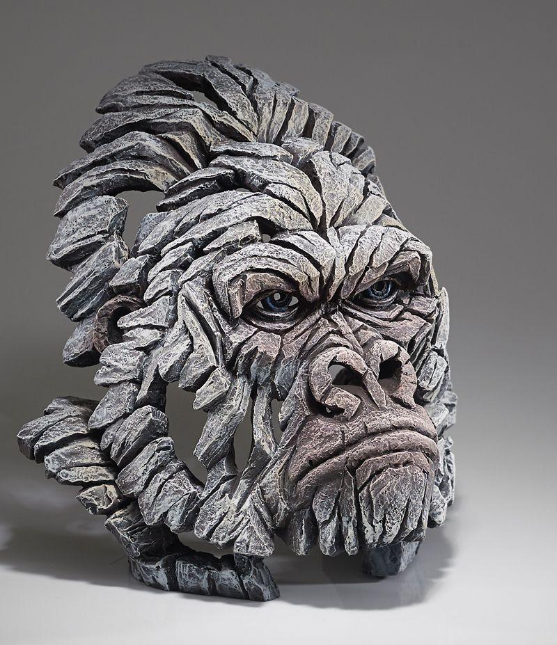 Gorilla Bust (White)
