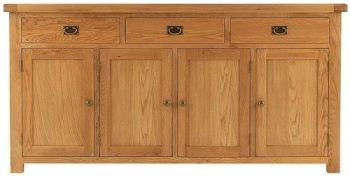 Heritage Oak 4 Door Sideboard
