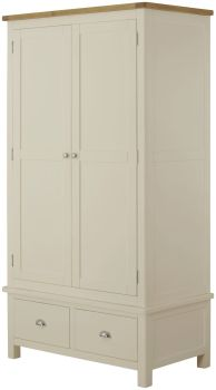 Purbeck Painted 2 Door 2 Drawer Wardrobe