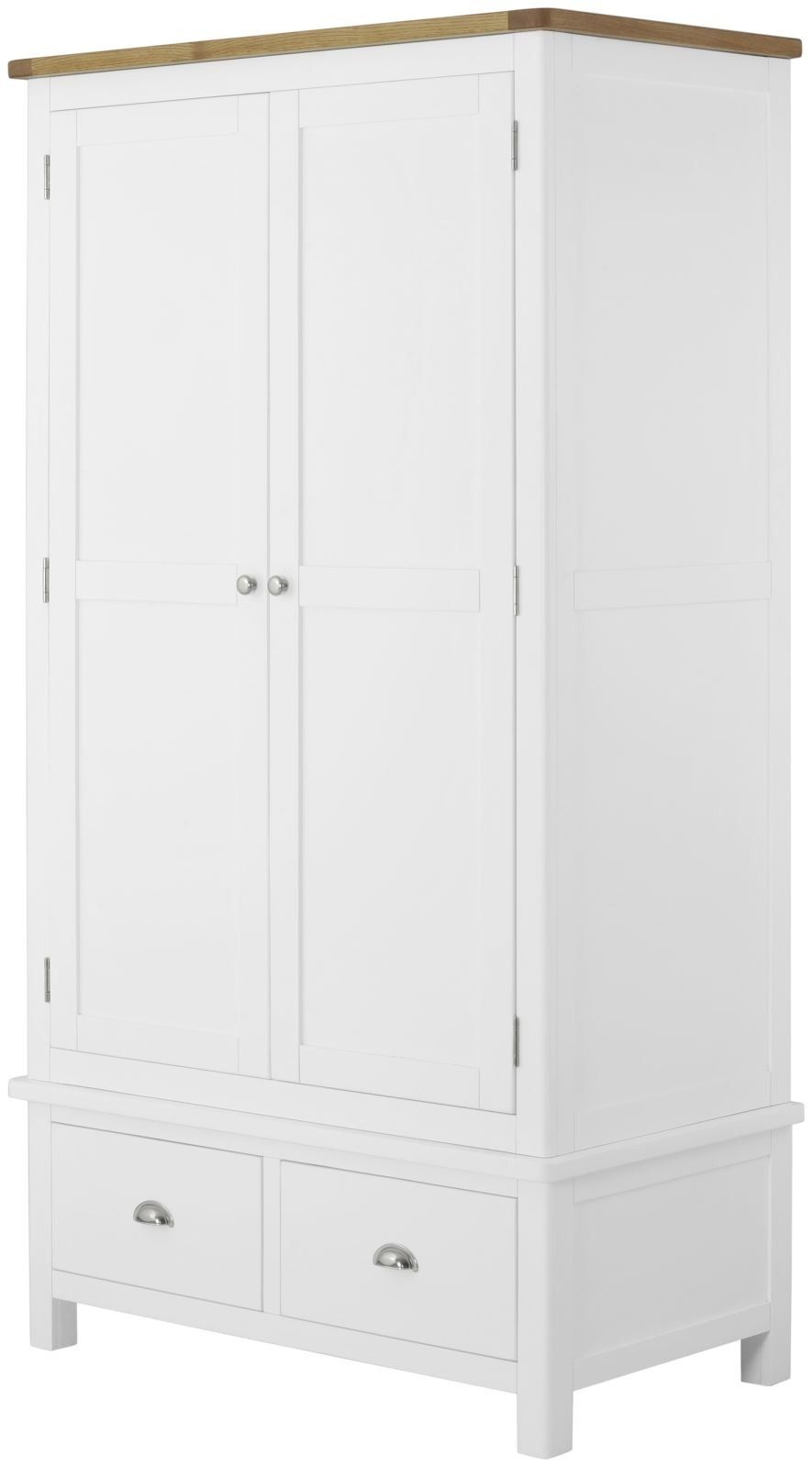 Purbeck Painted 2 Door 2 Drawer Wardrobe - White