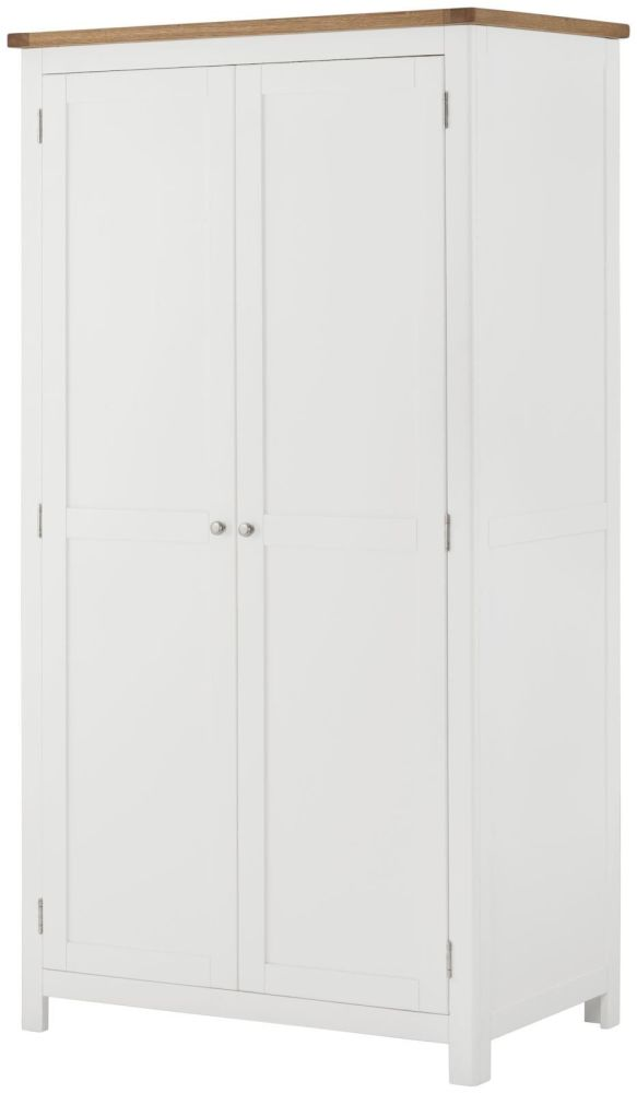 Purbeck Painted 2 Door All Hanging Wardrobe - White