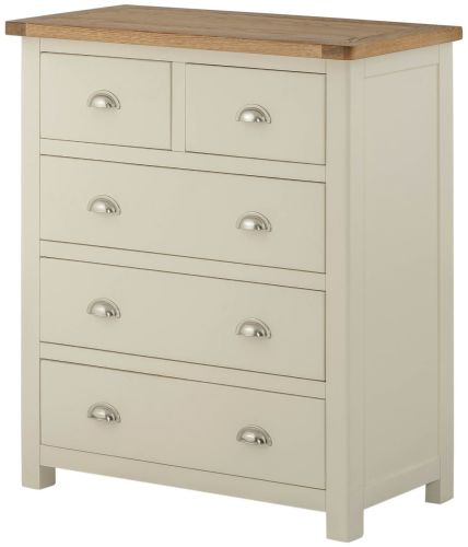 Purbeck Painted 2 Over 3 Chest - Cream