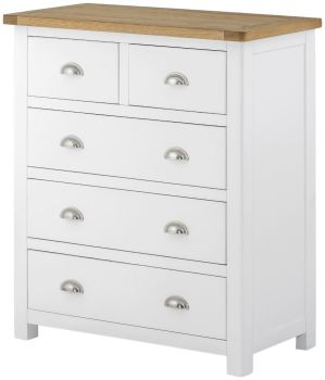 Purbeck Painted Chest - 2 Over 3 Drawers