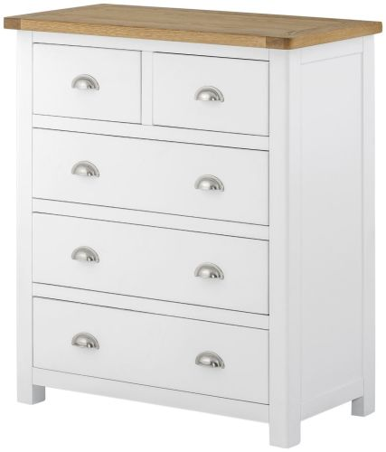 Purbeck Painted 2 Over 3 Chest - White