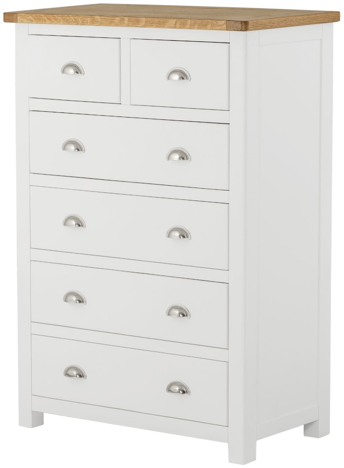 Purbeck Painted 2 Over 4 Chest - White