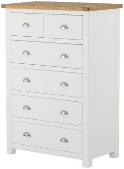 Purbeck Painted Chest - 2 Over 4 Drawers