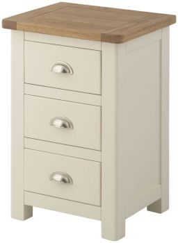 Purbeck Painted 3 Drawer Bedside