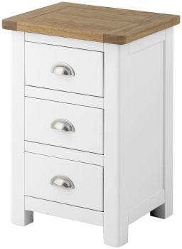 Purbeck Painted Bedside - 3 Drawers