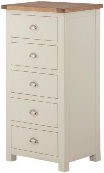 Purbeck Painted 5 Drawer Wellington Chest