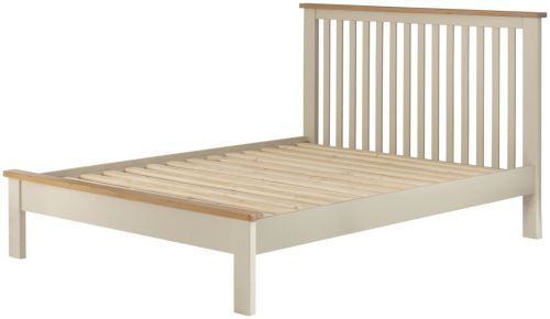Purbeck Painted 5' Kingsize Bed - Cream