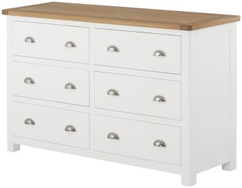 Purbeck Painted Chest - 6 Drawer Wide