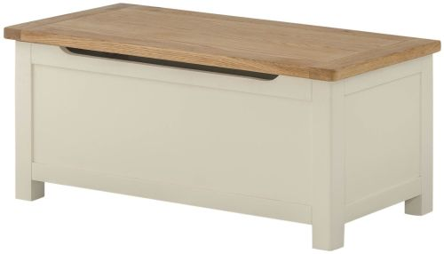 Purbeck Painted Blanket Box - Cream