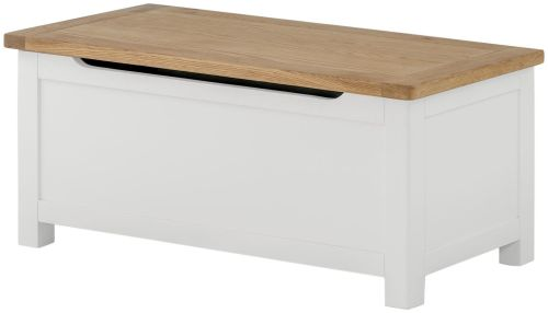 Purbeck Painted Blanket Box - White