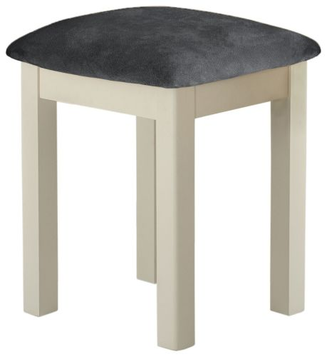 Purbeck Painted Stool - Cream