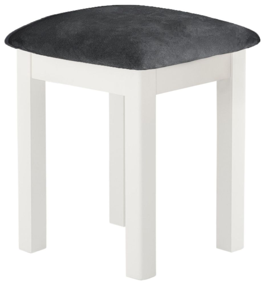 Purbeck Painted Stool - White