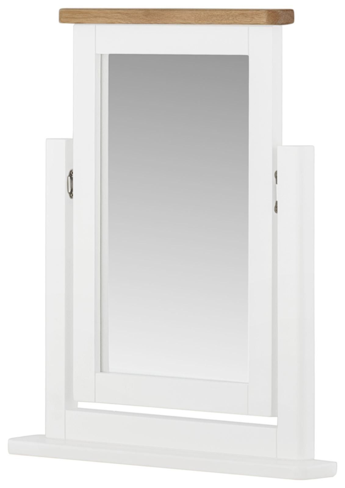 Purbeck Painted Swing Mirror - White