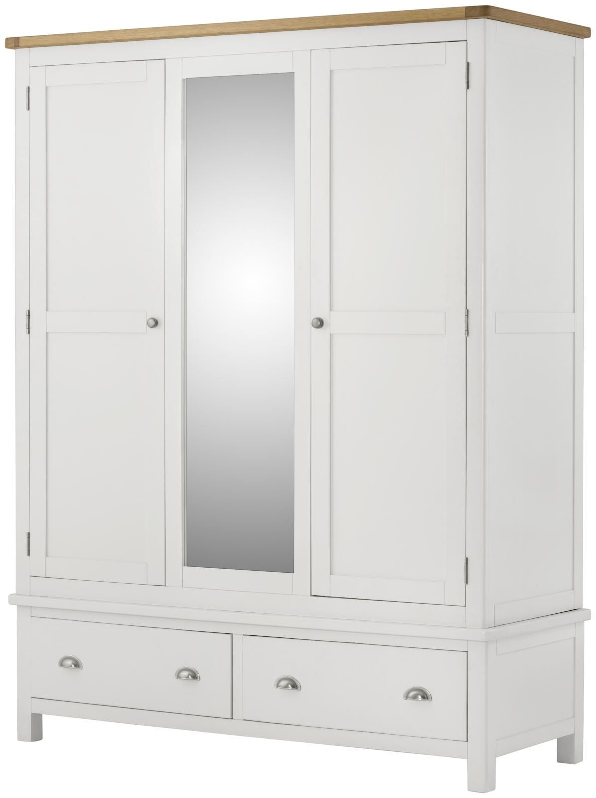 Purbeck Painted Triple Wardrobe - White