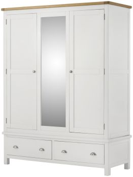 Purbeck Painted Wardrobe - Triple