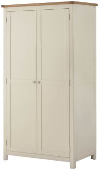 Purbeck Painted 2 Door All Hanging Wardrobe