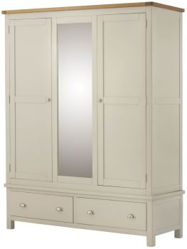 Purbeck Painted Triple Wardrobe