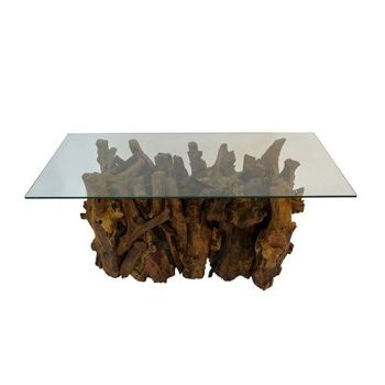 Teak Root Rectangular Coffee Table