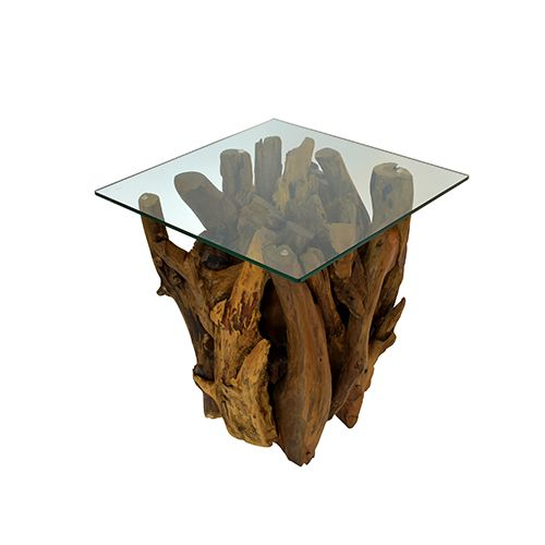 Teak Root Square Side Table