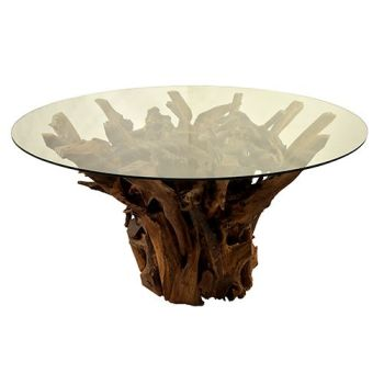 Teak Root 150 Round Dining Table