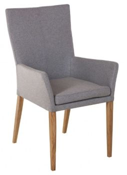 Urban Plush Dining Chair with Arms - Felt Fabric