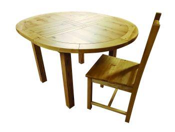 Hampton Abbey Oak Table - 1.06m Round Extending Table