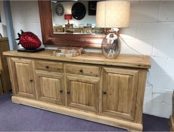 Hampton Abbey Oak 4 Door Sideboard
