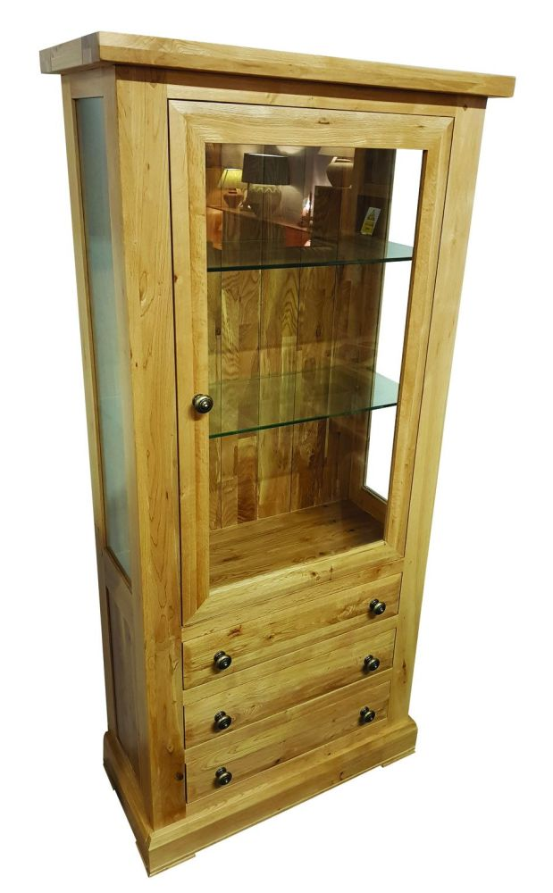 Hampton Abbey Oak 1 Door Glazed Unit