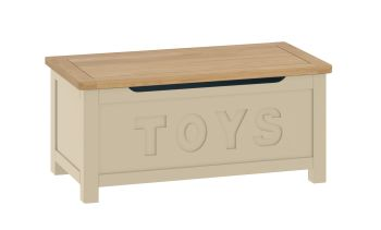 Purbeck Painted Toy Box - Stone/Oak