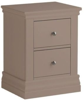 Bay View Narrow 2 Drawer Bedside