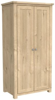 Brittany Oak 2 Door All Hanging Wardrobe