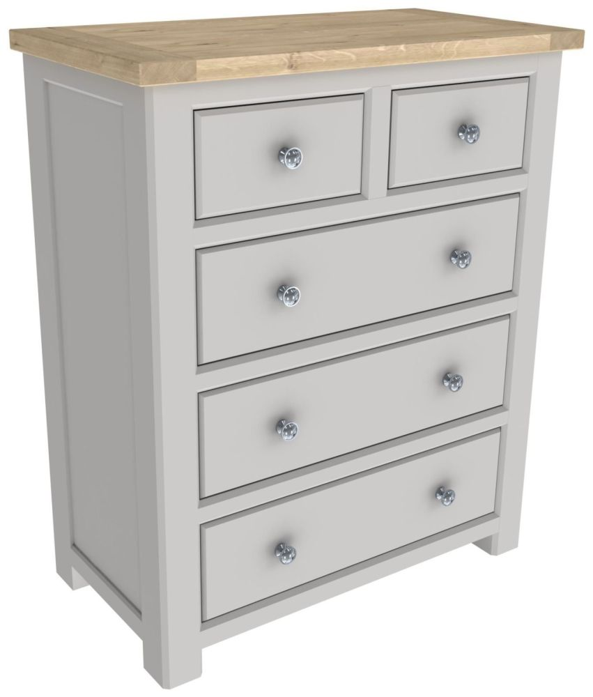 Brittany Oak 2 Over 3 Chest of Drawers