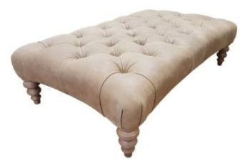 Jacaranda Curved Footstool - Buttoned