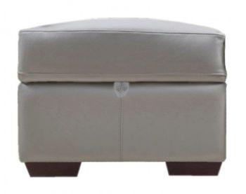 Hamilton Leather Storage Footstool