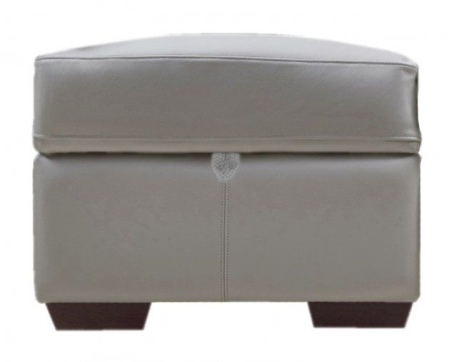 Henley Leather Storage Footstool
